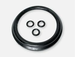 "Seal ""Tiki"" deep, black rubber"