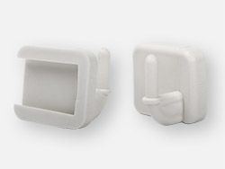 Connecting ferrule for toilet seat Galenika type