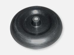 Točak gumeni sa felnom 400x100