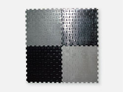 Rubber flooring, universal puzzle 500x500x5mm